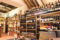 Wine shop in Tuscany Royalty Free Stock Images
