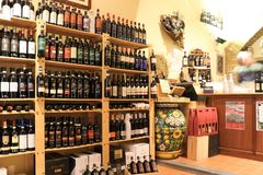 Wine shop in Tuscany Stock Photo