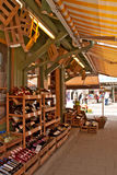 Wine shop in Viktualien Markt, Munich - Germany Royalty Free Stock Images