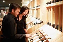 Wine shoppar Arkivfoton