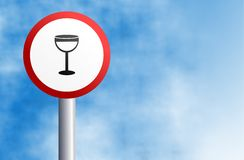 Wine sign Royalty Free Stock Image