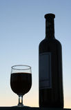 Wine silhouette royalty free stock images