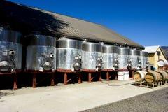 Wine silo's royalty free stock photo