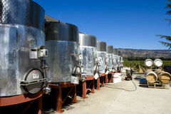 Wine silo's Royalty Free Stock Images