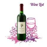 Wine Sketch Concept Stock Image