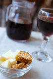 Wine and Snack Royalty Free Stock Photography