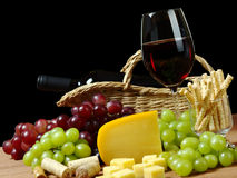 Wine and Snacks Stock Images