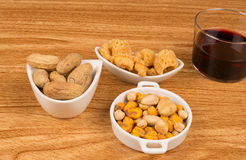 Wine and snacks Royalty Free Stock Image