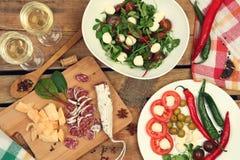 Wine and snacks Stock Photo
