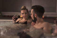 Wine and spa Royalty Free Stock Image