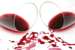 Wine spill Royalty Free Stock Images