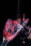 Wine spillage freeze frame Royalty Free Stock Image