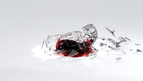 Wine spilling on white floor Royalty Free Stock Photography
