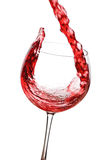 Wine splash Stock Images