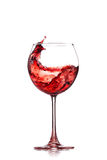 Wine splash Stock Images