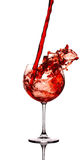Wine splash Stock Photo