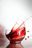 Wine splash beaker Royalty Free Stock Photos