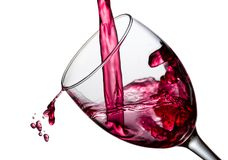 Wine splash with drops Stock Image