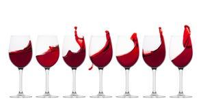 Wine splash Stock Photography