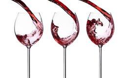 Wine splash isolated on white background Stock Images