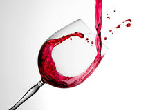 Wine splashed in Glass 2 Royalty Free Stock Image