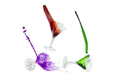 Wine splashes Stock Image