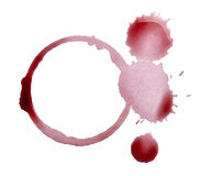 Wine stain fleck beverage drink alcohol Royalty Free Stock Photography