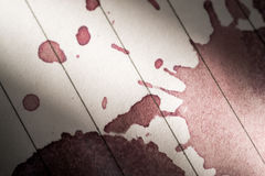Wine Stain on Paper Macro Image Royalty Free Stock Image