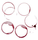 Wine stains group food beverage drink alcohol Stock Photography