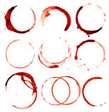 Wine stains Royalty Free Stock Images