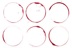 Wine stains and spots Royalty Free Stock Photo