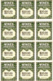 Wine stamps Stock Photos