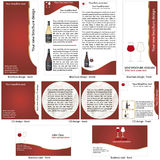 Wine stationary template Royalty Free Stock Images