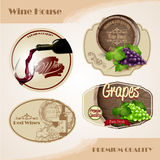 Wine stickers Royalty Free Stock Image