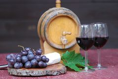Wine still-life Stock Images
