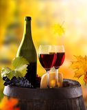 Wine still-life Stock Photography