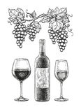 Wine still life stock illustration
