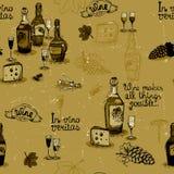 Wine still life monochrome Stock Image
