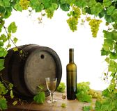 Wine still life vine border royalty free stock photo