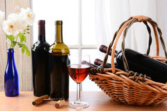 Wine Still Life Window Horizontal Stock Image