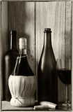 Wine Still Life With Window Light Stock Photography