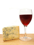 Wine and stilton Royalty Free Stock Photos