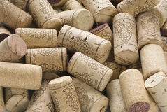 Wine stopper. Close up natural wine corks background Stock Image