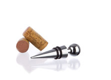 Wine stopper with corks Royalty Free Stock Image