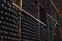 Wine Storage in the Cellar . America : royalty free stock image