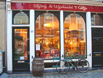 Wine store in the Dutch city of Gorinchem Royalty Free Stock Images