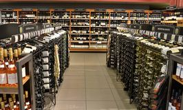 Wine store Stock Photos