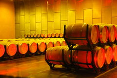 Wine stored in the wine cellars Royalty Free Stock Photo