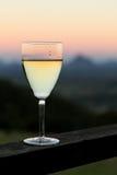Wine at Sunset Stock Photo