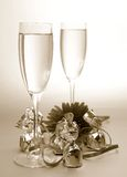 Wine and sweets Stock Images